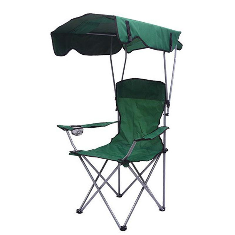 도소 접이식 그늘막 자외선 햇빛차단 휴대용 캠핑의자 낚시의자 바닷가의자, 그린
