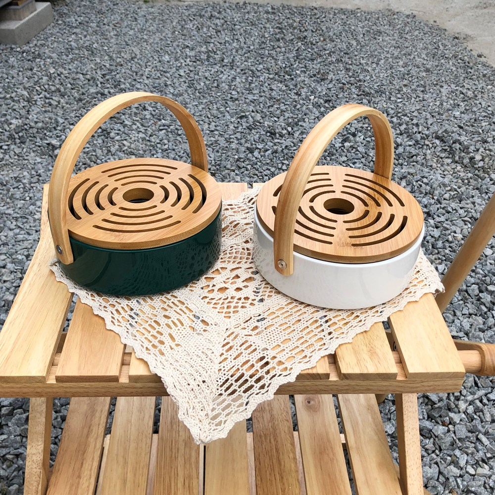 우드감성 캠핑 모기향 야외 거치대 휴대용 케이스 연소기, 화이트 (POP 5717490639)