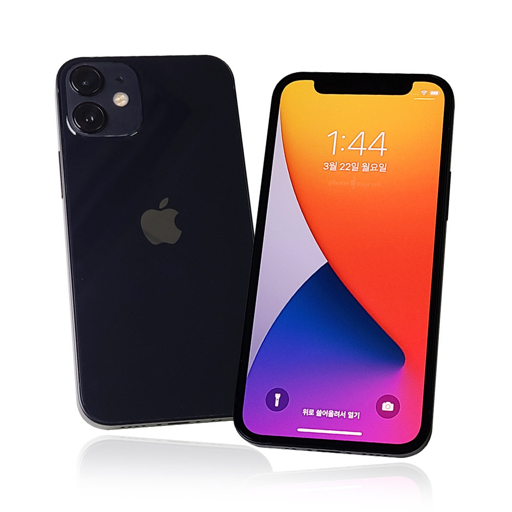 아이폰12 MINI 64128256 미니 중고 공기계 중고폰, 아이폰12미니 128G 3사공용, 블랙 가개통 새제품