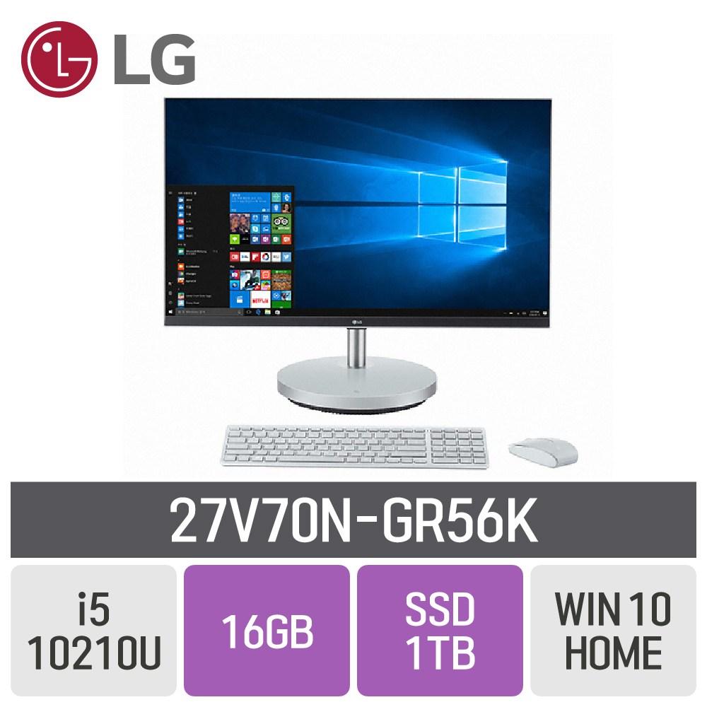 LG 일체형PC 27V70N-GR56K, RAM 16GB + SSD 1TB
