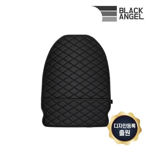 블랙엔젤 어메이징 킥매트 2020년 업그레이드 포켓형 자동차 시트커버 보호, A_1단포켓_블랙