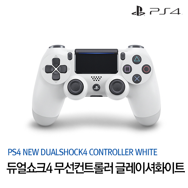 [PS4] CUH-ZCT2G13/듀얼쇼크4 신형 무선컨트롤러/글레이셔화이트, 상세 설명 참조