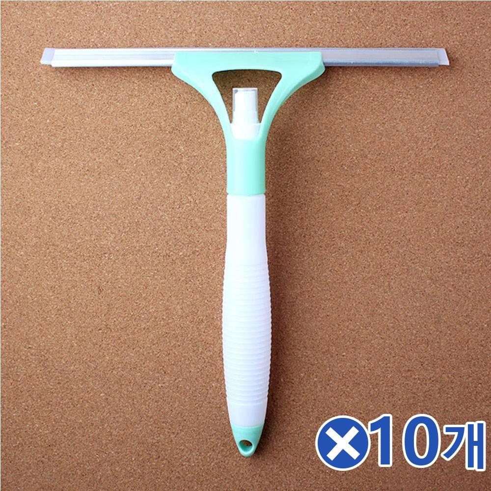 분무기 일체형 유리창닦이-색상랜덤x10개 창문닦기, 단일상품