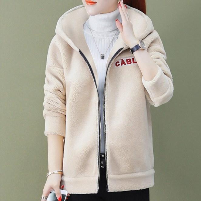 엘레스 여성코트 여성점퍼 루즈핏 자체제작 양털 겨울 코트