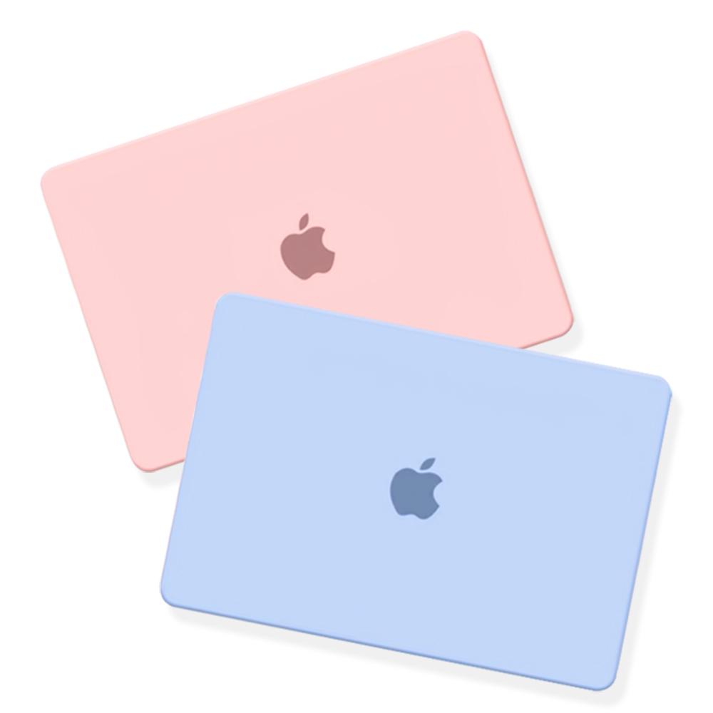 트루커버 2020년 맥북프로 13인치(A2251 A2289) 전용 파스텔 로고컷 케이스, 파스텔로고컷케이스-핑크