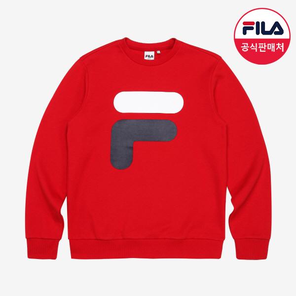 [FILA] BIG F 로고 스웨트셔츠 (FX2POA1021X_DRD)