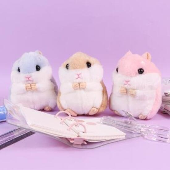 아트박스/갓샵 귀여운 햄스터 햄찌 키링 인형 11cm [동물 햄토리 봉제 가방 열쇠 키홀더 고리인형], 핑크