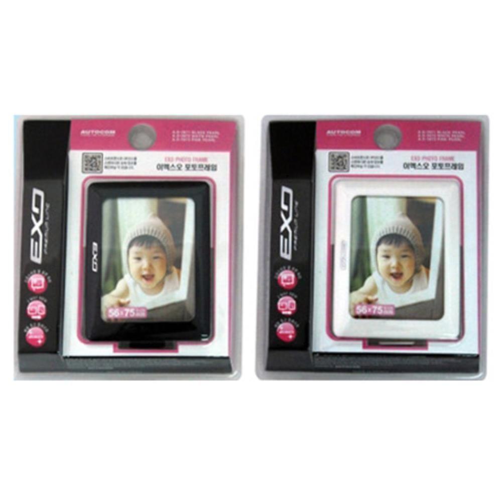 이엑스오 포토프레임 차량용 미니 액자 사진 안내판, 블랙 (POP 5760607734)