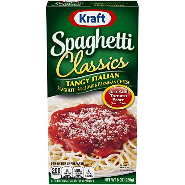 Kraft Tangy Italian Spagetti 크래프트 탱지 이탈리안 파스타 스파게티 8oz(226g) 12팩, 단일상품, 단일상품