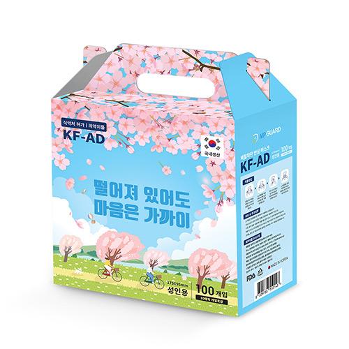 엠피가드 선물세트 국내산 KF-AD 마스크 대형 100매, 1박스(100매)
