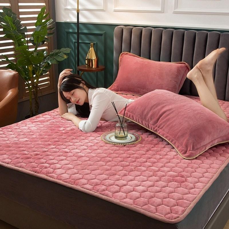 토퍼 템퍼 매트리스 침구 기타 겨울 기모 쿠션 학생 기숙사 싱글 담요 침대, AP_1.0 x 2m