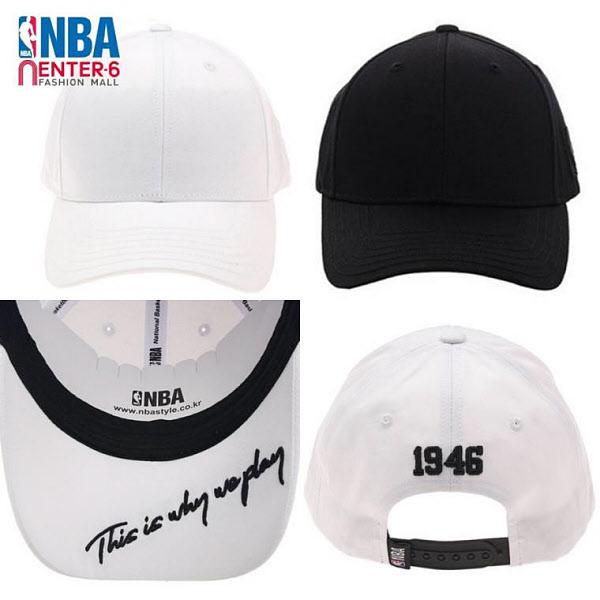 NBA 엔비에이 남녀공용 에센셜 하챙자수 커브캡 모자 N195AP455P