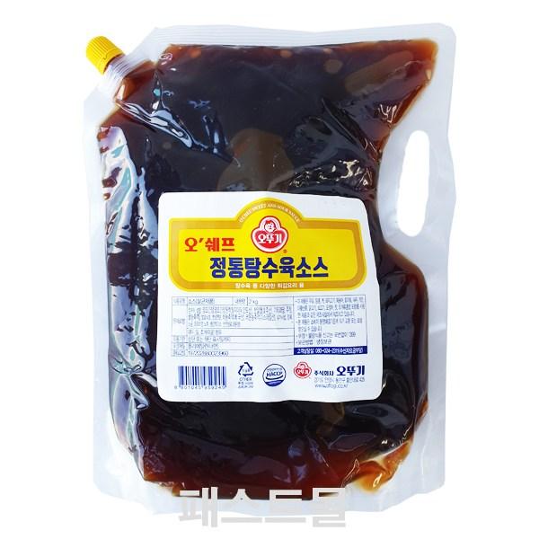 오뚜기 오쉐프 정통탕수육소스, 1개, 2kg