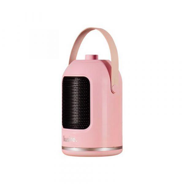 가성비해외직구 캠핑용 미니 온풍기 1000w 손잡이히터 휴대용 실내인테리어 감성캠핑, 핑크, 기본