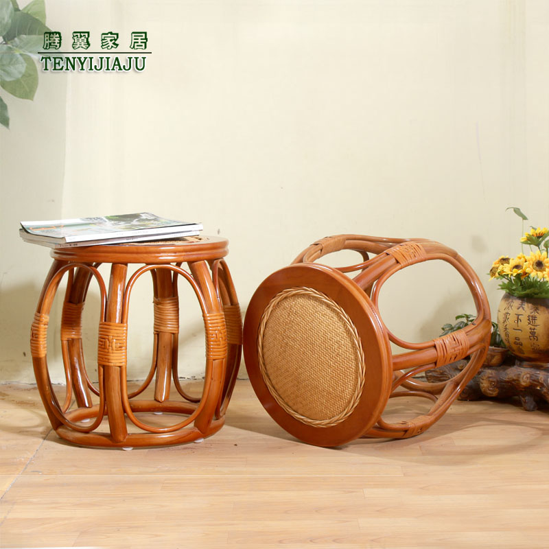 라탄스툴 라탄의자 등나무 원형 인테리어의자, 오리지널