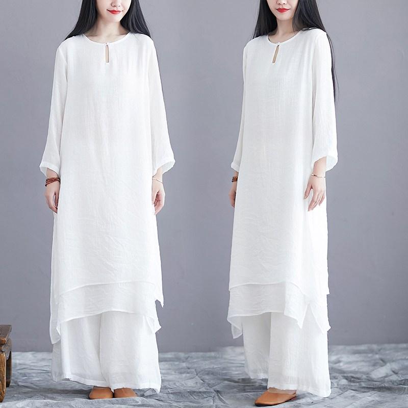 생활한복 남녀 공용 개량한복 상하 생활한복(개량한복) (POP 5382060674)