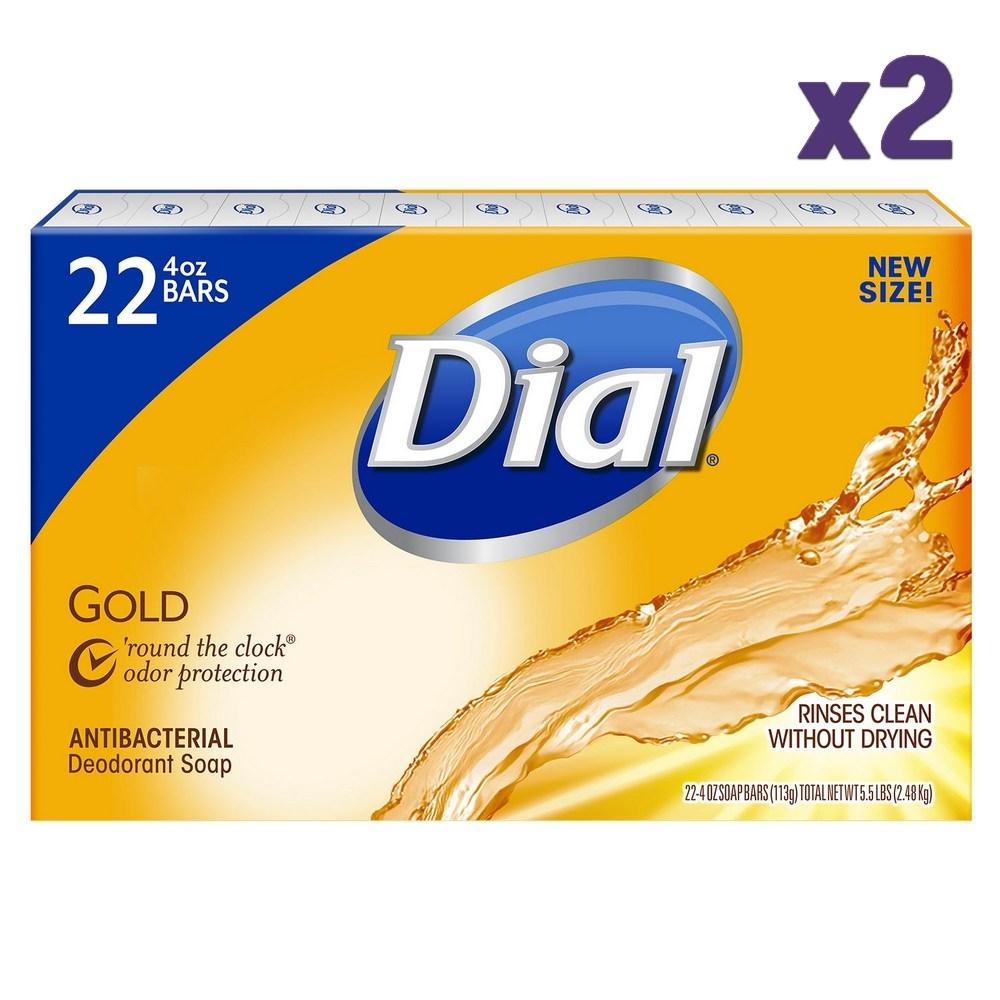 Dial 미국 다이알 비누 골드 22개x2팩 총44개 Antibacterial Deodorant Soap