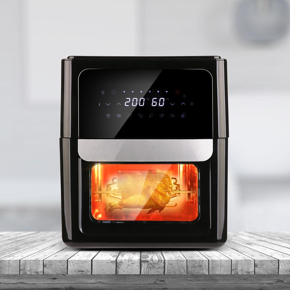 휴앤봇 대용량 로티세리 에어프라이어 12L LS-AF12DB, 블랙