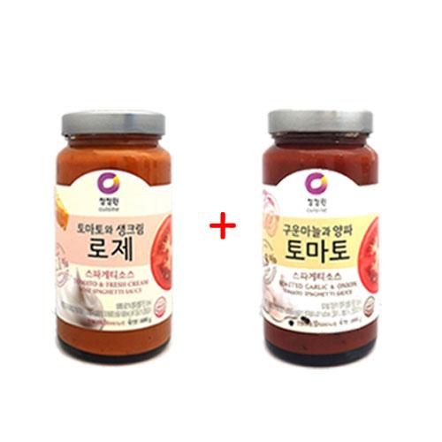 1+1 [조이스몰] 청정원 [쉐프추천] 로제스파게티소스600g +토마토소스600g, 1세트