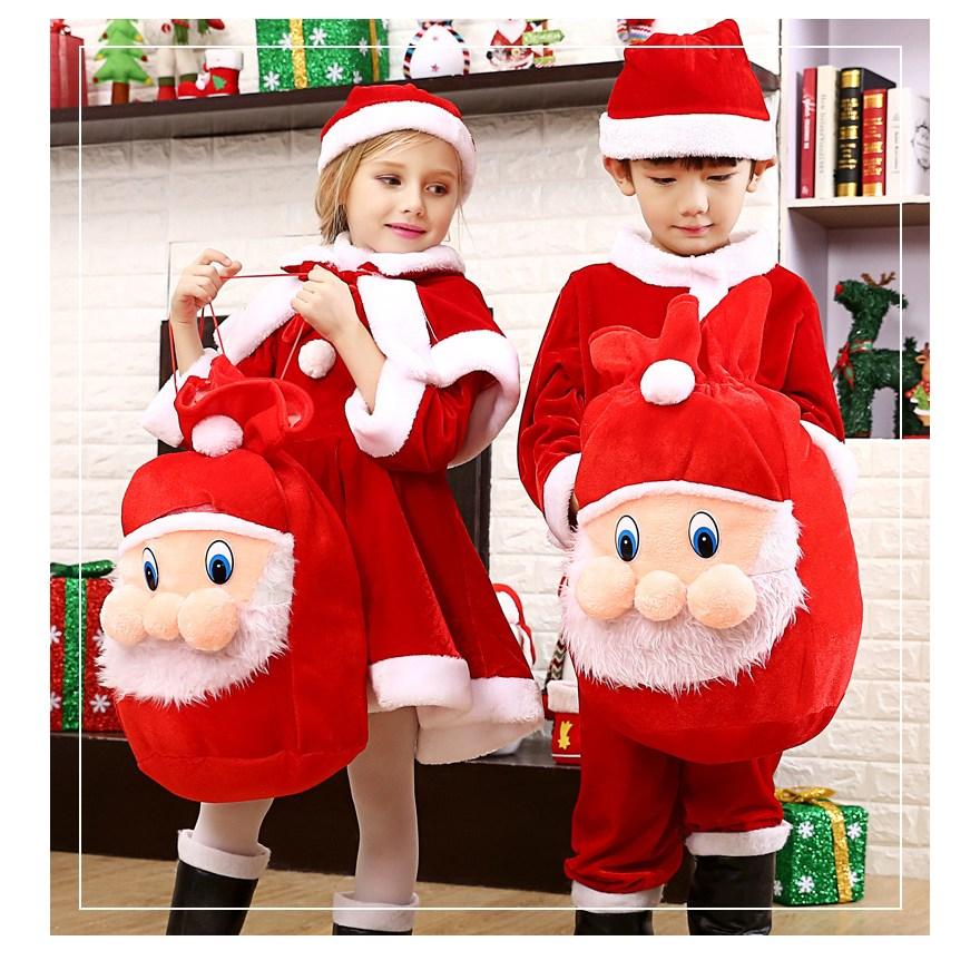 아동 산타복 여아 크리스마스 공연복 성인 산타복 세트