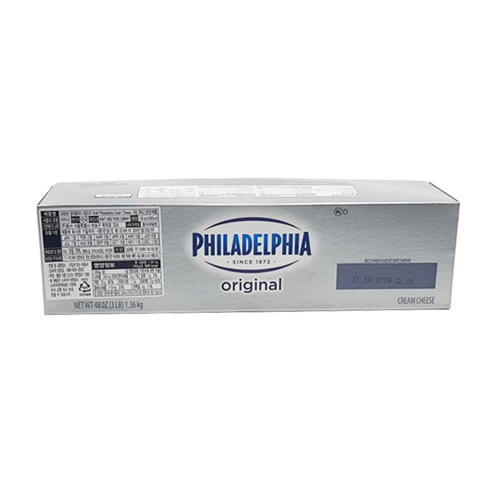 필라델피아크림치즈 1.36KG, 본품만구매(아이스박스미포함)