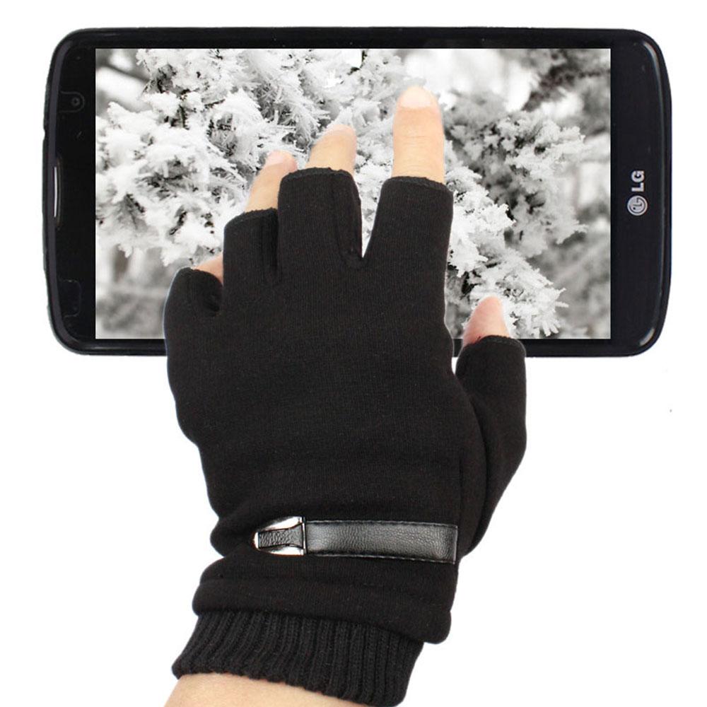 기모 스마트폰 키보드장갑 마우스 사무용 장갑 손가락없는 니트 반장갑 반손가락장갑