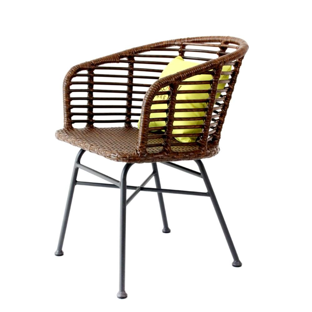 북유럽 철제 라탄의자 카페 호텔 야외 테라스 의자, G