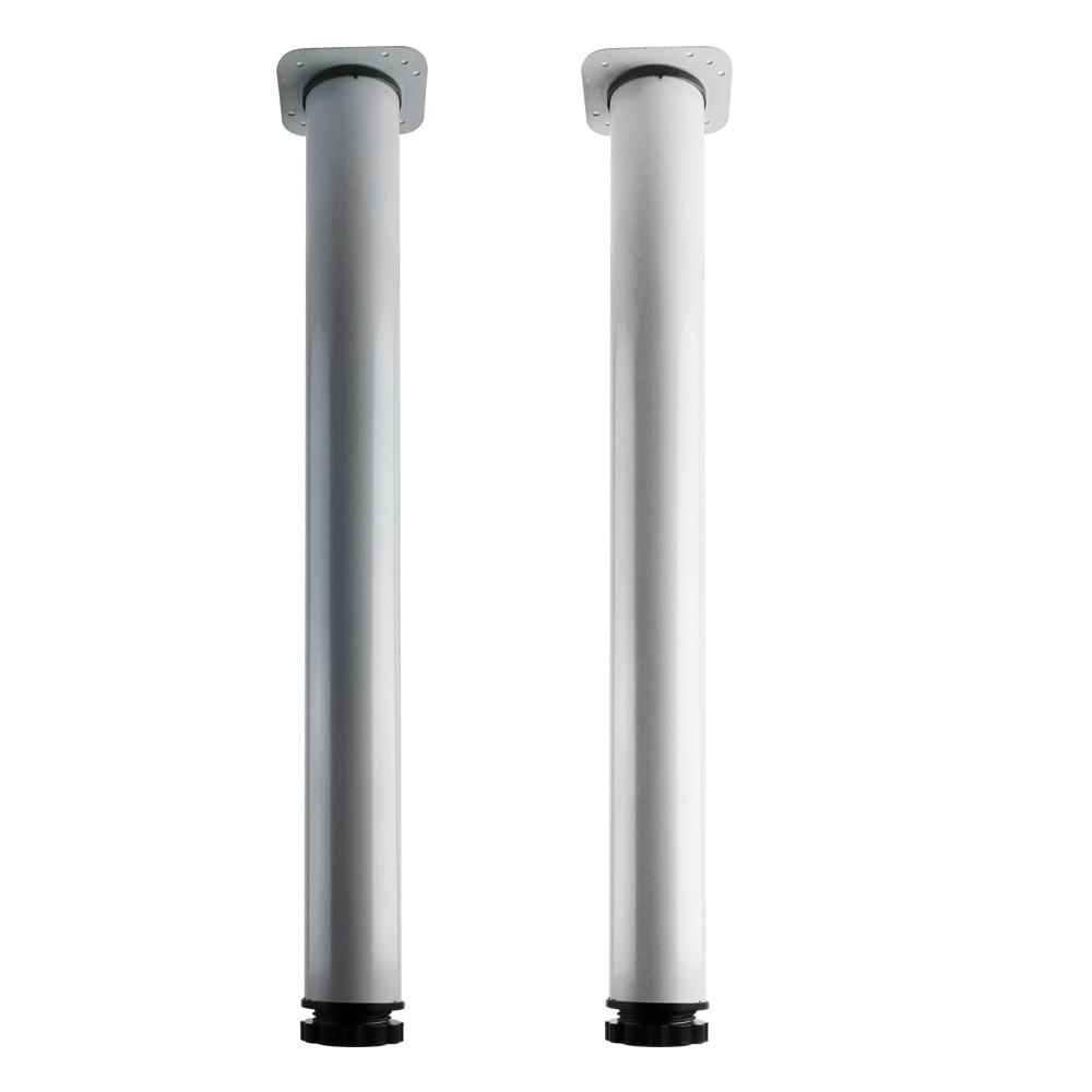 책상다리 700mm 알루미늄 화이트 그레이 높이조절, I04-다리-700그레이