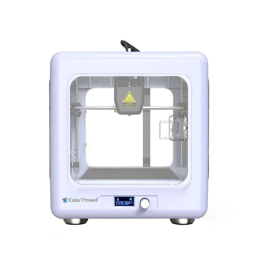 Easythreed MINNIE 미니 3D프린터 교육 가정용 나노 3d 프린터 DIY 키트 챔버형, orange