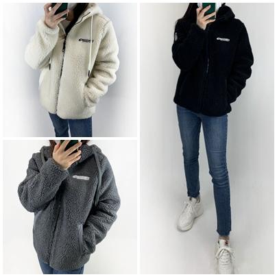 디스커버리 YN 양털 뽀글이 후드집업 남녀공용