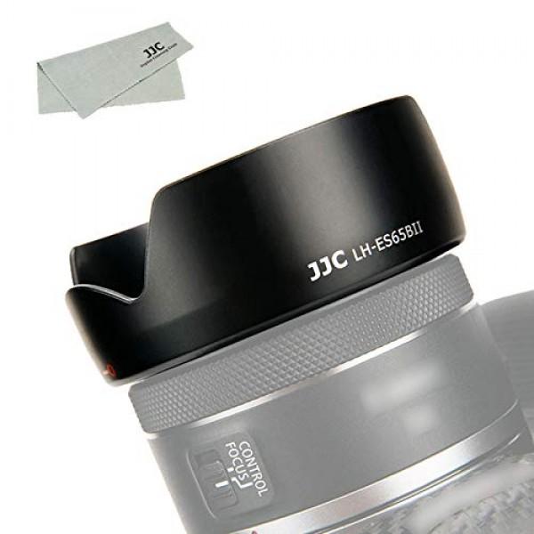 JJC ES-65B レンズフード 花形 Canon RF 50mm F1.8 STM レンズ 用 ES-65B 互換 キヤノン EOS R5 R6 R RP