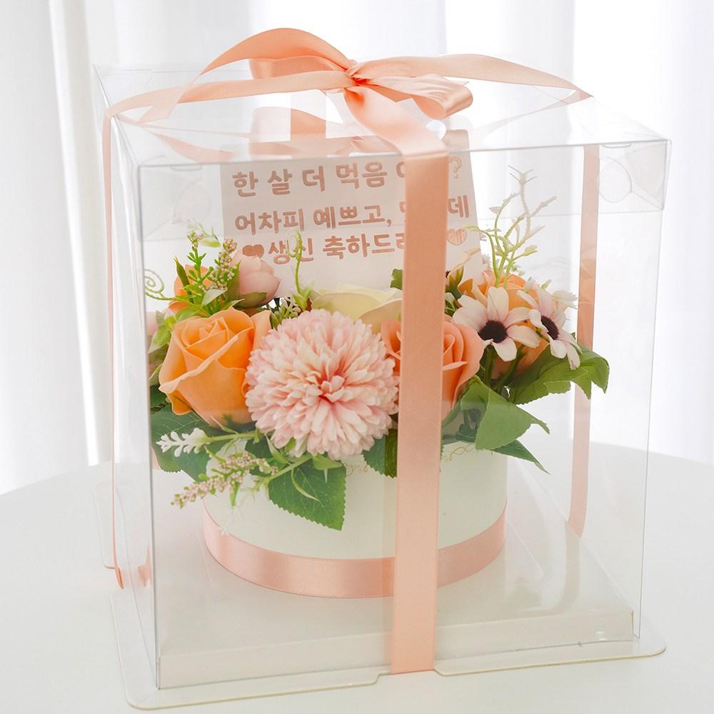 민트퐁퐁 완제품 반전 돈케이크 용돈박스 투명케이스 포함, 3. 피치(기본)