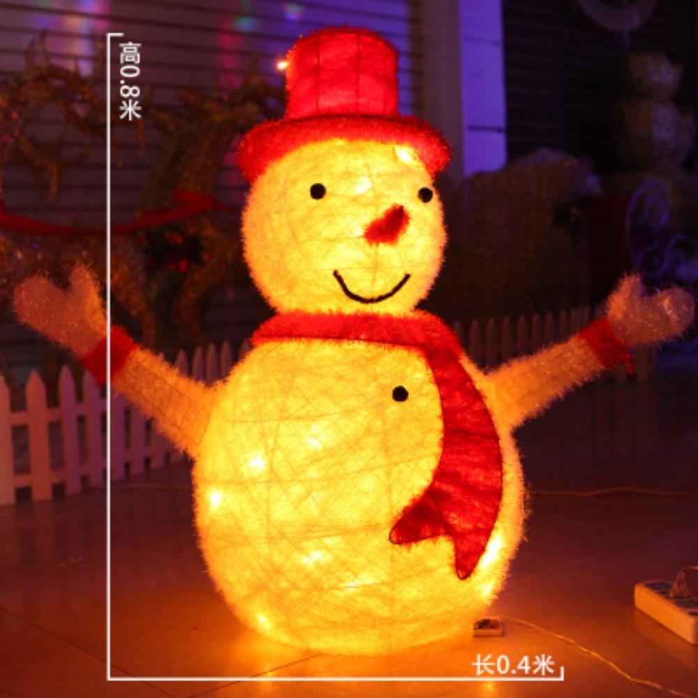 크리스마스 LED 트리 눈사람 인테리어 소품 세트 모형 장식 연말파티용품 산타조형물 메리크리스마스, 80센티 led 스노우맨
