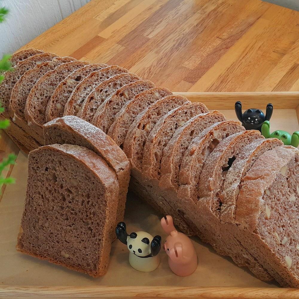 [더브레드천연발효빵] 유기농100%통밀_뺑콩플레(샌드위치용)통밀식빵1kg (샌드위치용통밀빵 비건빵 건강빵 무설탕빵 100%호밀빵), 1개