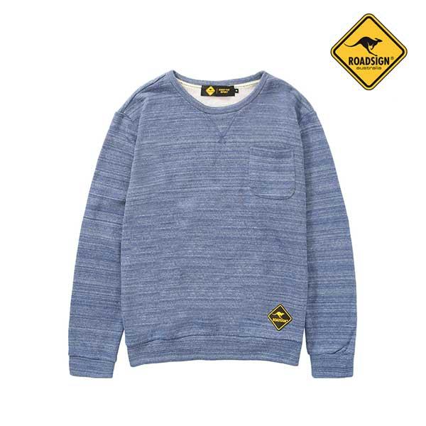 로드사인 [로드사인] P 유니 멜란지 맨투맨 티셔츠-RDTX702A_BL