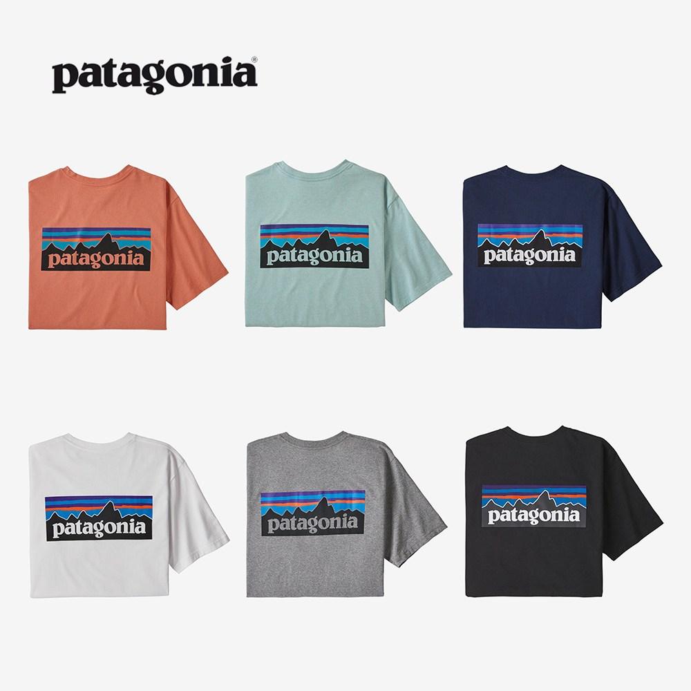 파타고니아 P-6 로고 포켓 리스폰서빌리티 반팔 티셔츠 6종