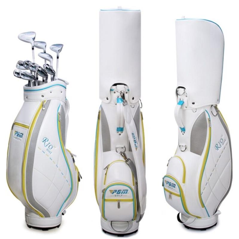 Pgm 여성 골프 가방 pu 골프 클럽 가방 한국 방수 골프 표준 가방 스포츠 카트 클럽 에어백 qb042 보유, QB042-화이트-20-5824203983