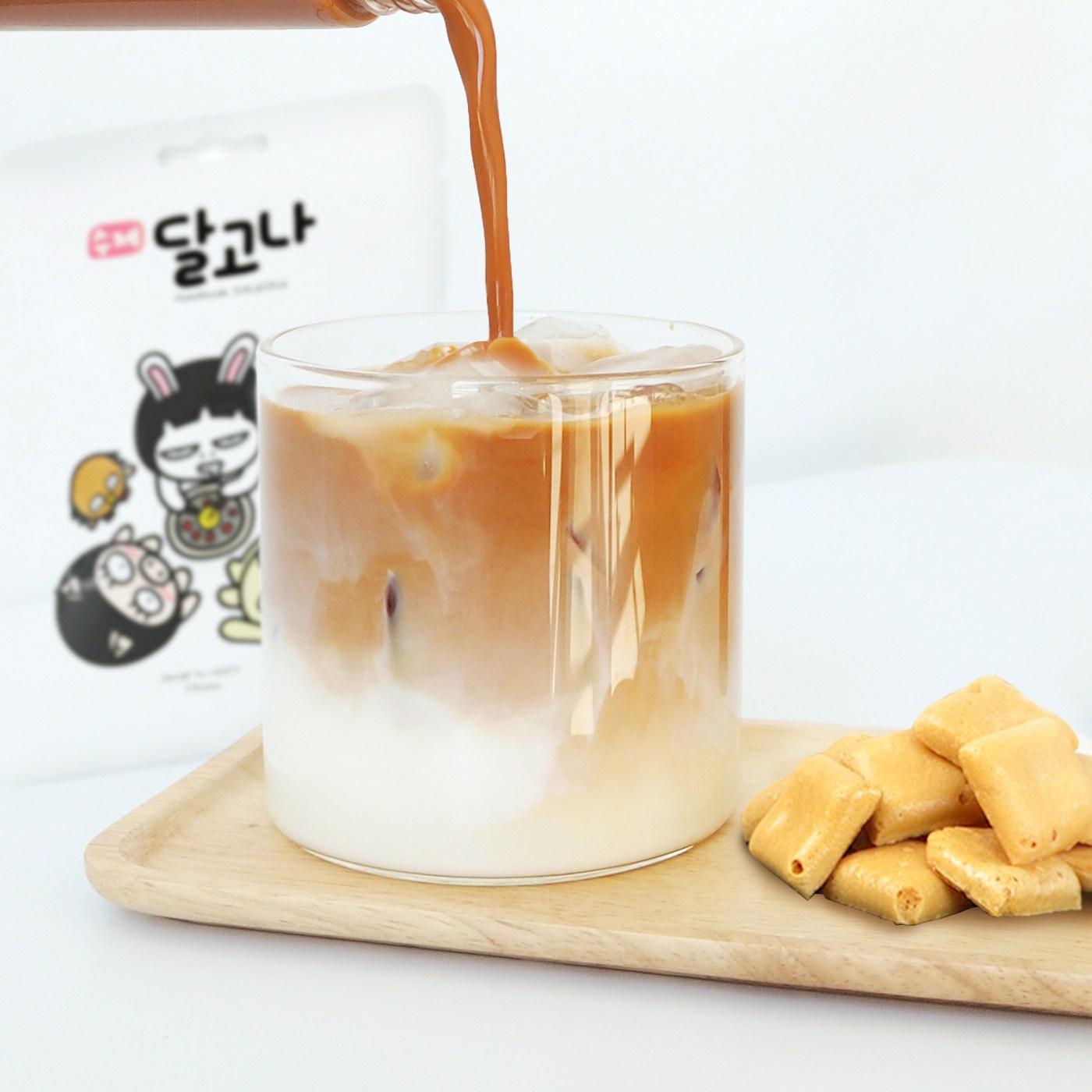 마녀의부엌 달고나밀크티 수제 달고나 10개 세트 무가당아쌈, 1개