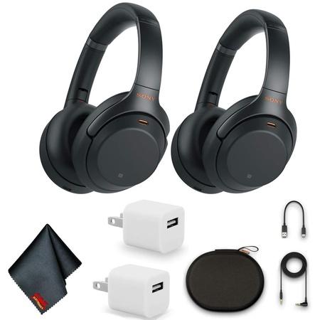 헤드셋 Sony WH-1000XM3 Wireless Noise-Canceling Over-Ear Headphones (Black) Bundle with 2X USB Adap, 상세 설명 참조0, One Color