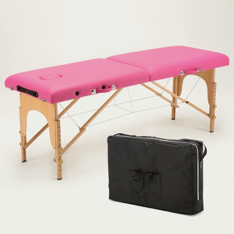 휴대용 접이식 마사지침대 9컬러 기본, 핑크 플러스 백 70 너비개