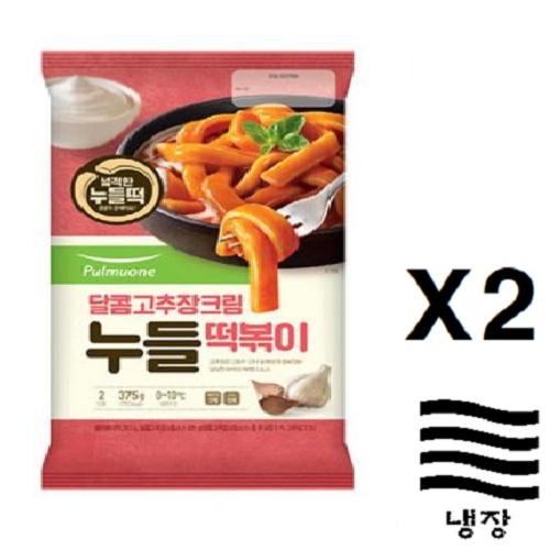 [풀무원] 달콤고추장누들떡볶이(2인분)X2, 2개, 375g