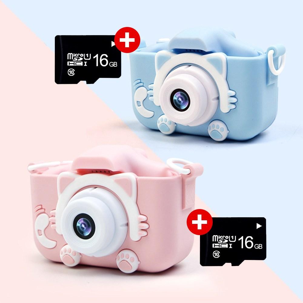넥스X5S고양이발카메라+16GB / SD카드 추가, 블루