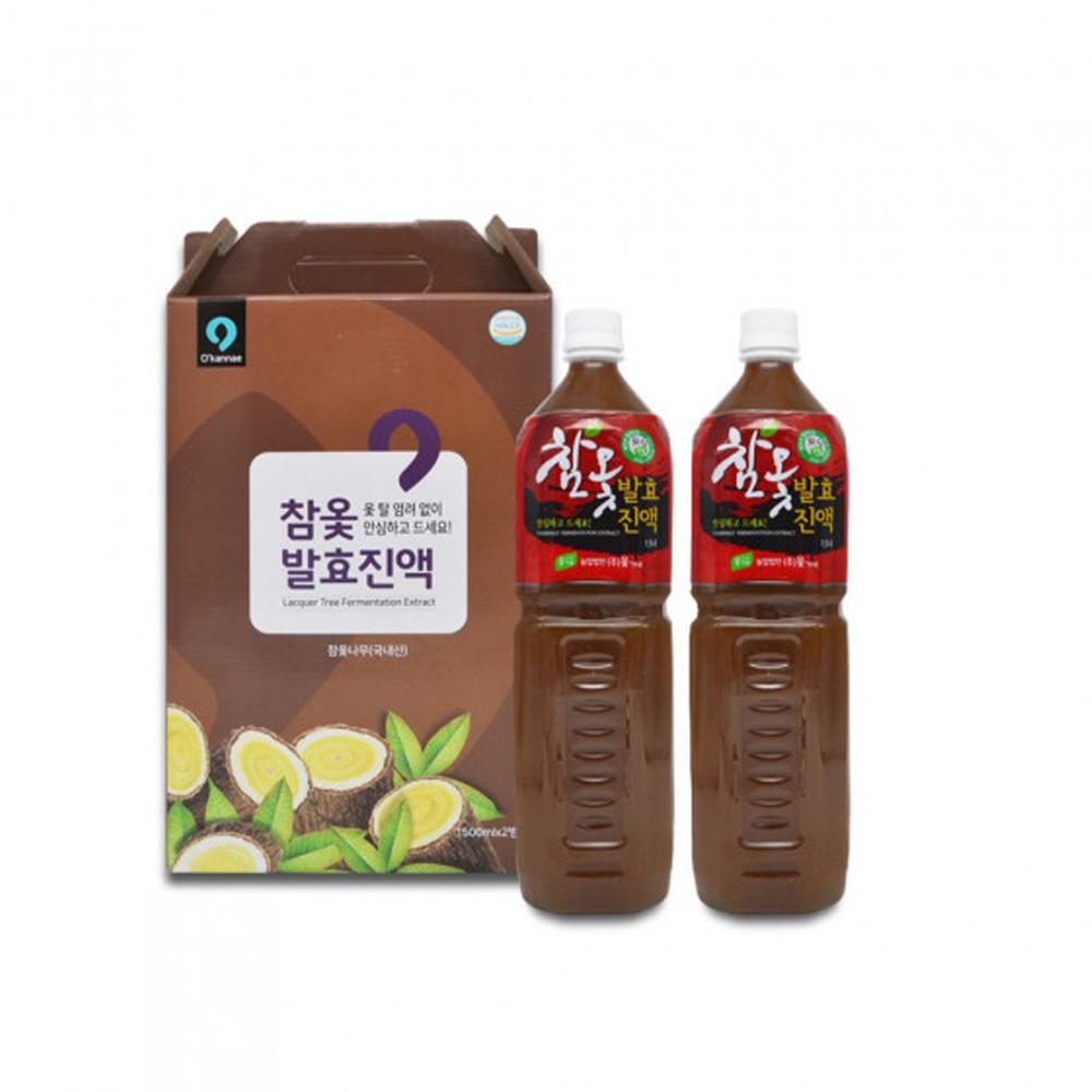 참옻 발효 진액 국내산 옻나무 액기스 옻물 참옷 옻차 2통 1박스