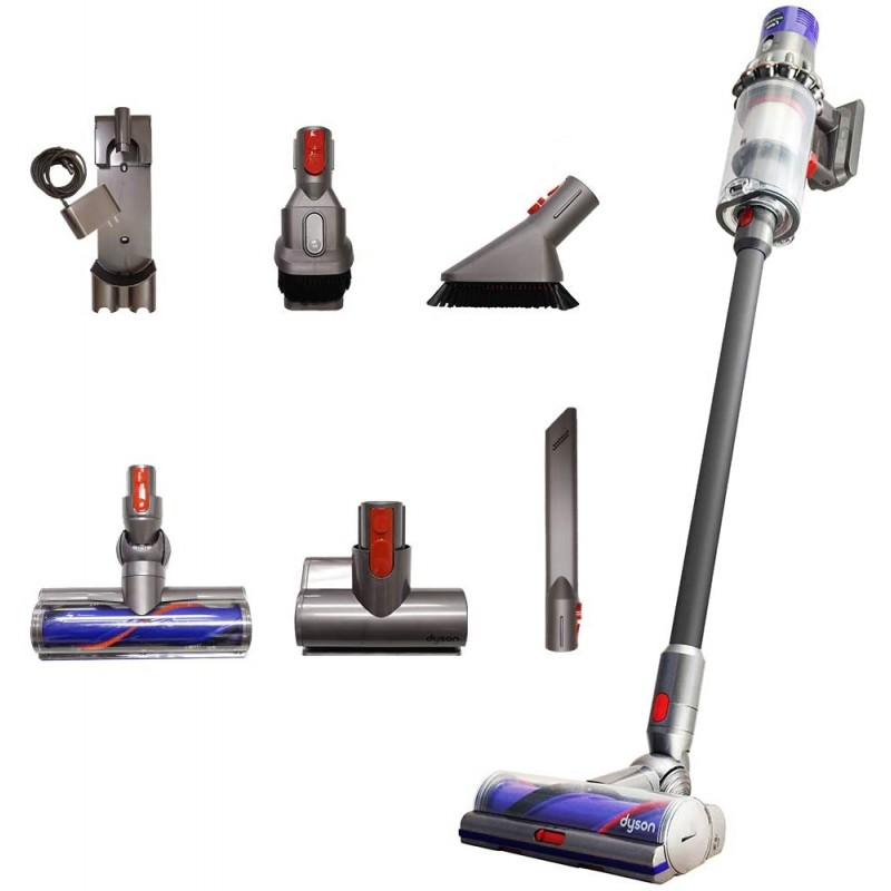 Dyson Cyclone V10 Total Clean + with Mini Motorized Tool and Mini Soft Dusting Brush Cord-Free St, 단일상품