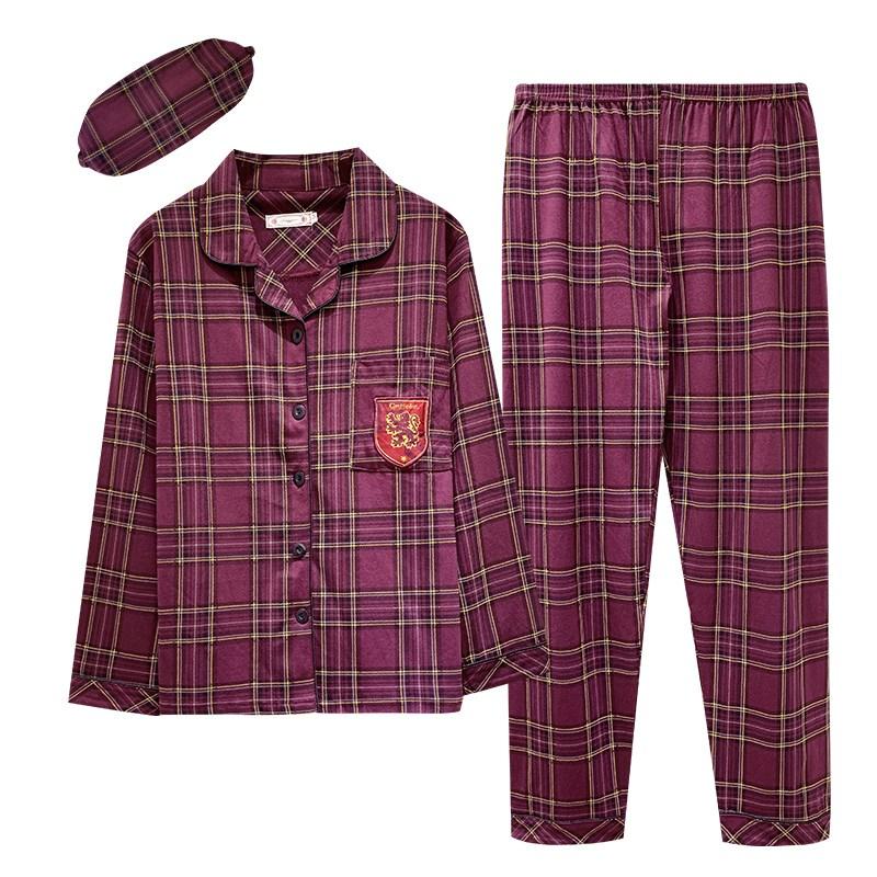해리포터 커플 잠옷 여자 봄가을 겨울 타입 긴소매 순면 INS트렌드 인싸템 핫한 큐트 실내 유니폼 가을