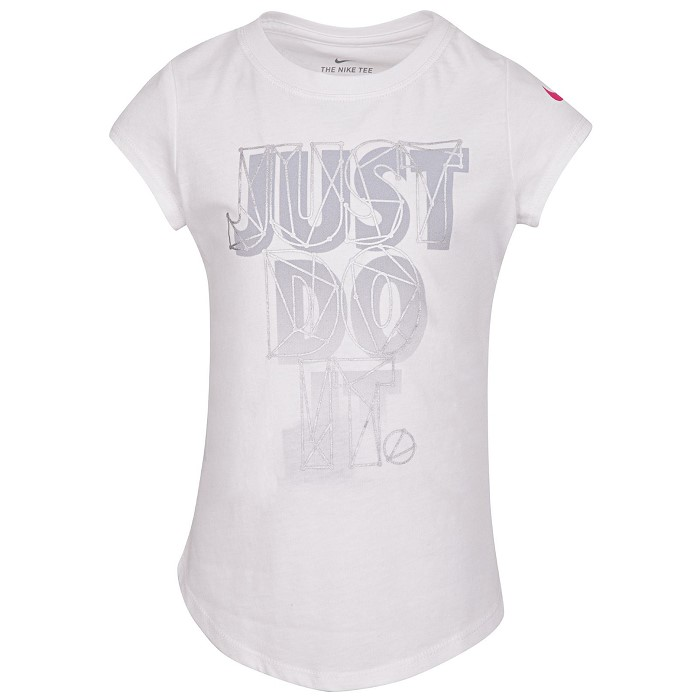[나이키키즈]Little Girls Just Do It-Print Cotton T-Shirt트레이닝복