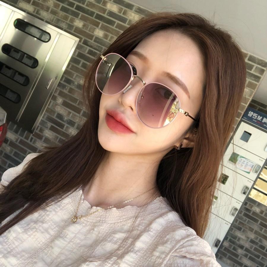 VANANA2 패션 남 여 동글이 원형 미러 선글라스