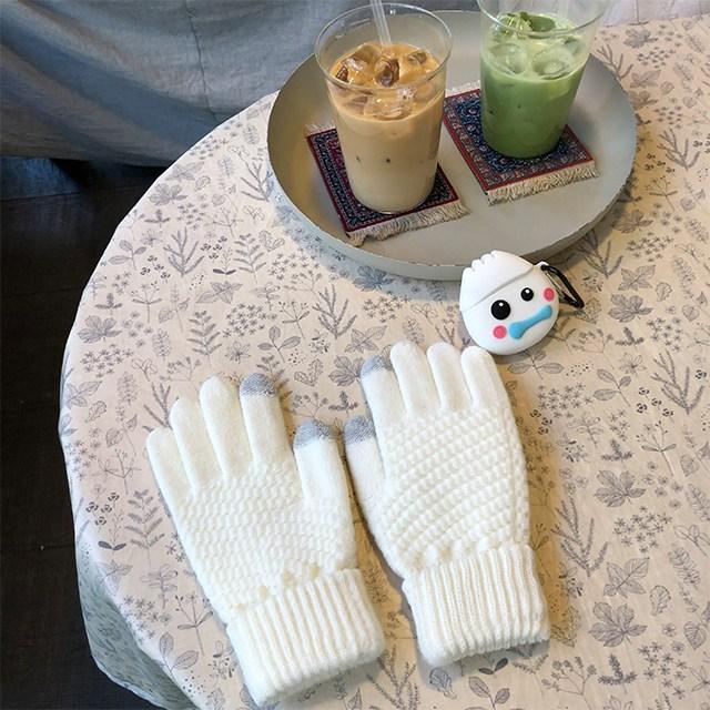(1+1) 터치가능 기모 엠보 겨울 장갑