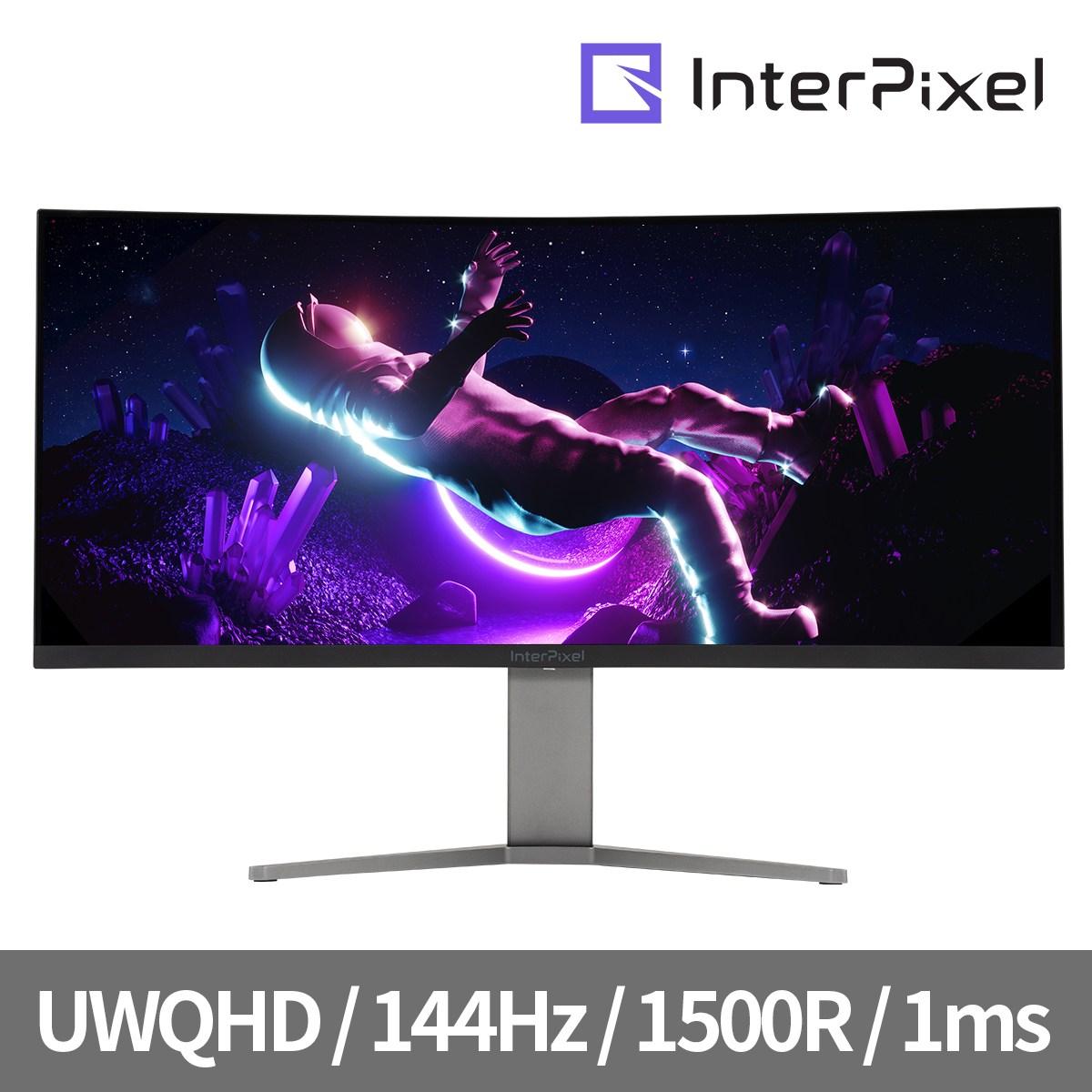 인터픽셀 IPU3431 34인치 UWQHD 144Hz 1500R 울트라 와이드 게이밍 모니터, IPU3431(무결점)