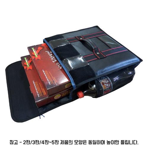 대성ENG 피자가방 2판검정 고급형검정 내부보강 배달가방, 검정